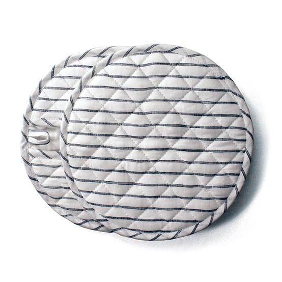 Stripe Round Pot Holder - Set of 2