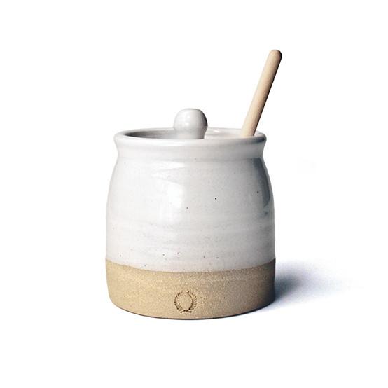 Beehive Honey Pot & Wooden Dipper