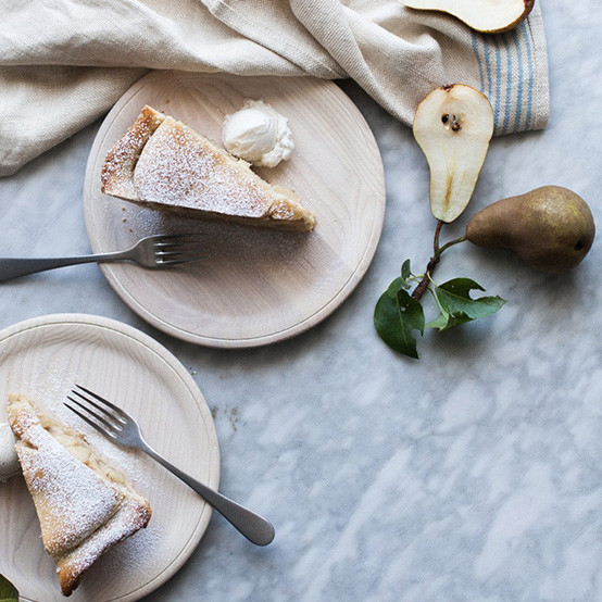 Crafted Wooden Plate in White