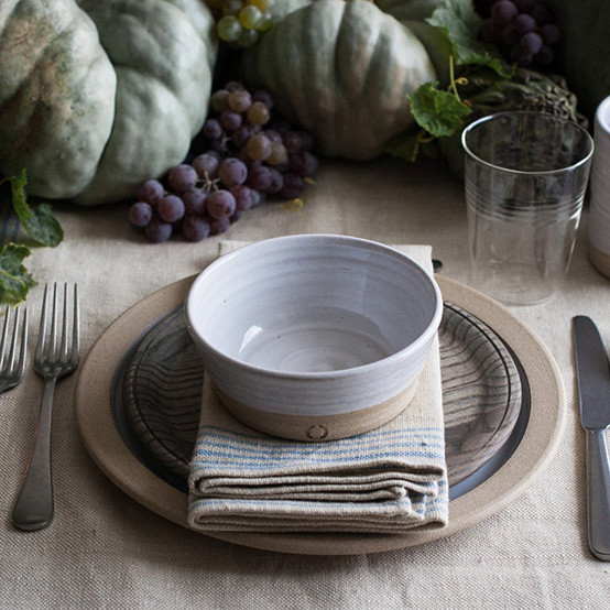 Crafted Wooden Plate in Grey