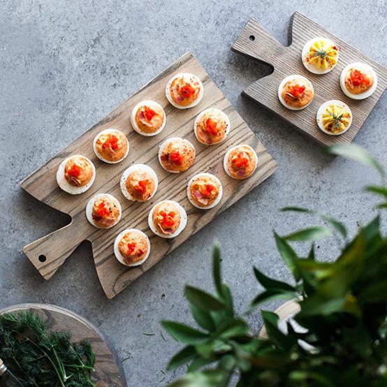 Grey Araucana 4 Egg Board