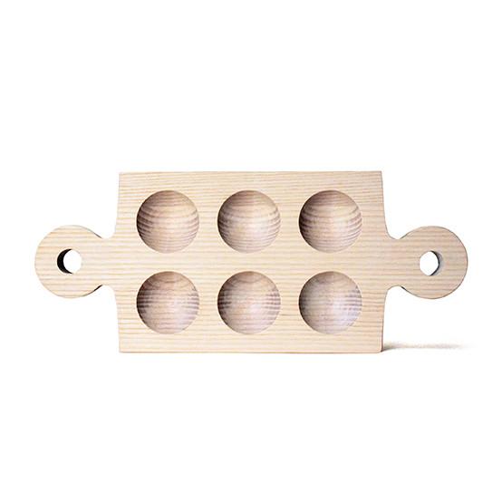White Cornish Half Dozen Egg Board