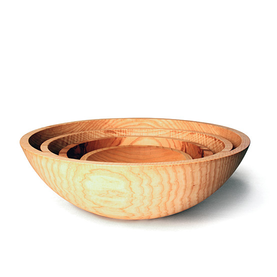 "Natural 12"" Crafted Wooden Bowl"