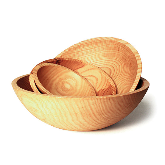 "Natural 17"" Crafted Wooden Bowl"