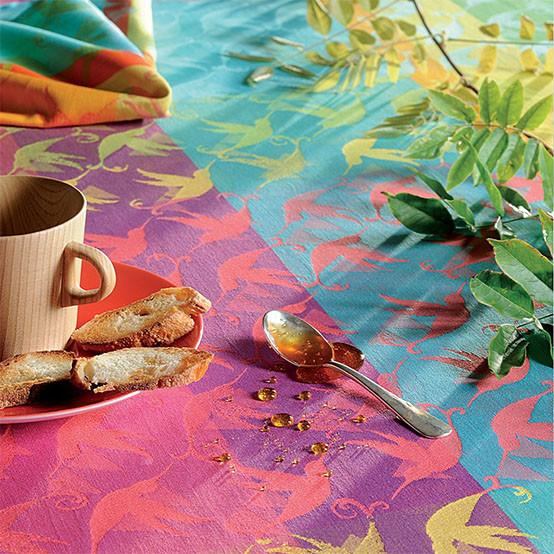 Mille Colibris Antilles Coated Tablecloth