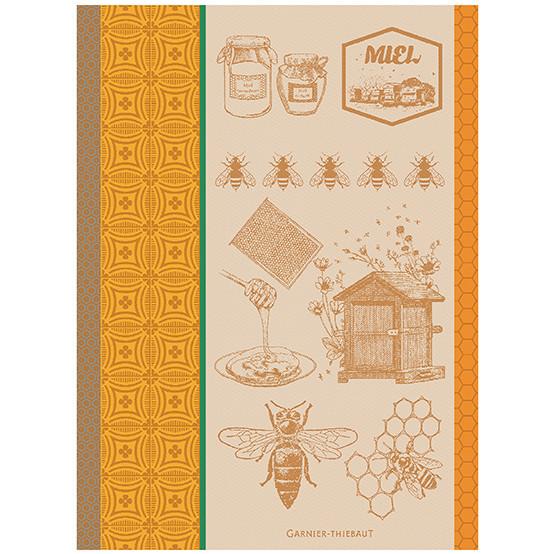 Miel Et Abeilles Kitchen Towel in Ocre