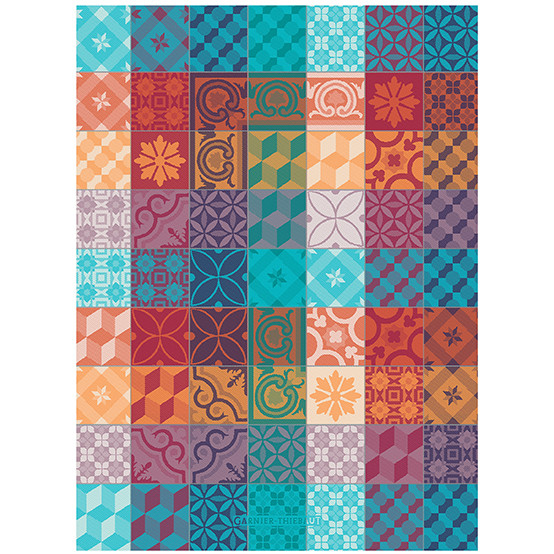 Mille Tiles Kitchen Towel in Multicolore