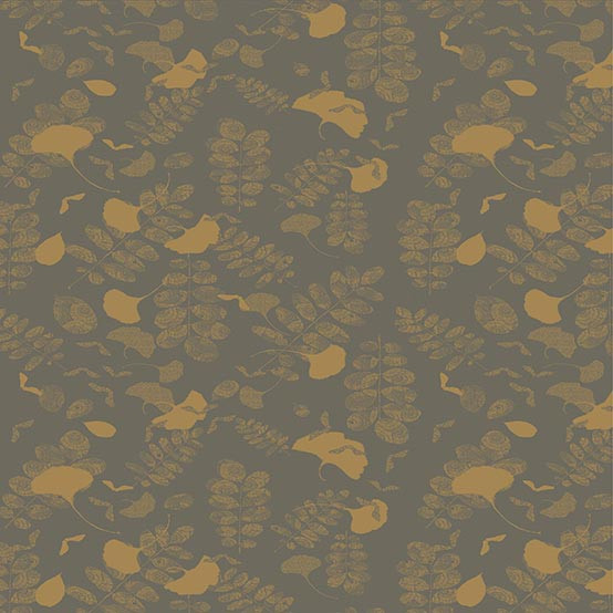 Mille Feuilles Coated Fabric in Bronze (Price/Inch) -on Roll