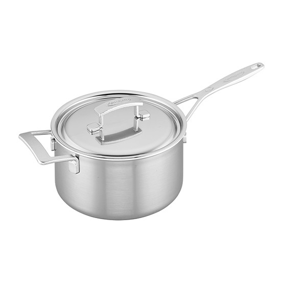 Industry 5-Ply 4-qt Stainless Steel Saucepan