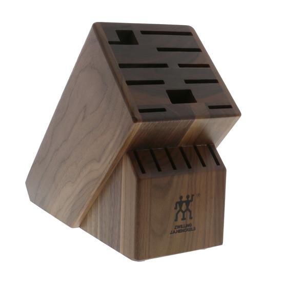 TWIN 16 Slot Knife Block in Walnut