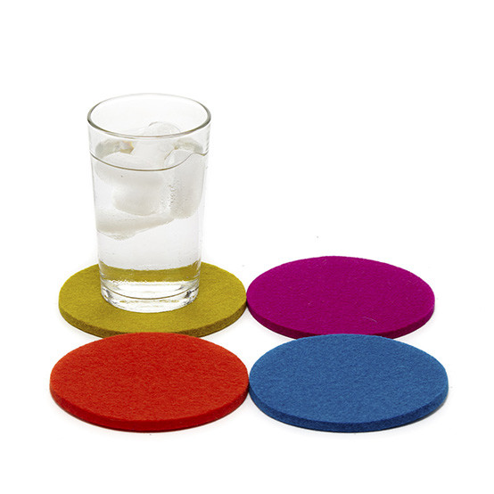 Round Coaster Set in Electric