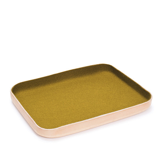 Large Kawabon Tray in Golden Moss
