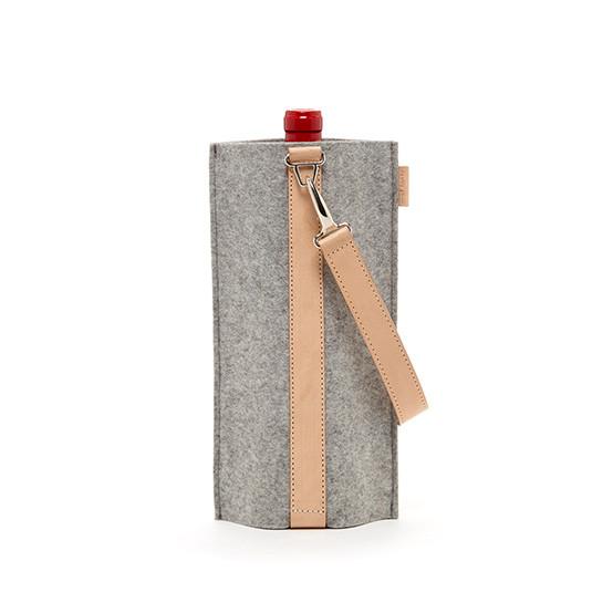 Solo Wine Carrier in Granite / Natural