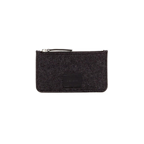 Petite Flat Pouch in Charcoal