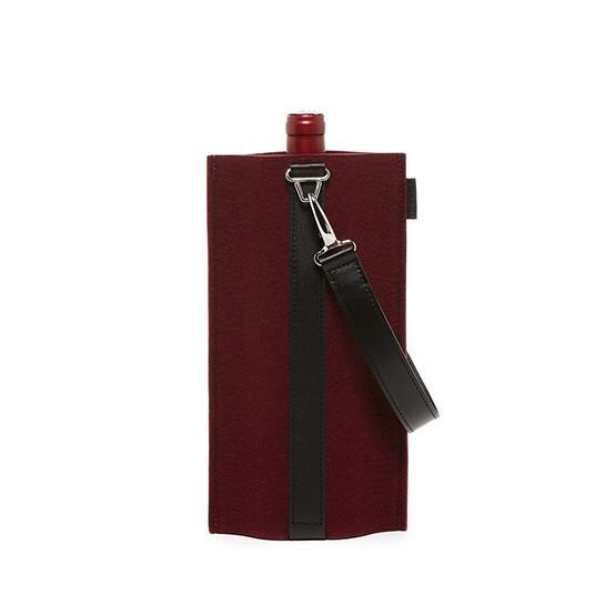 Solo Wine Carrier in Burgundy / Black