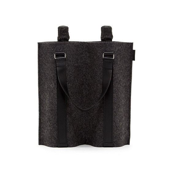 Duo Wine Carrier in Charcoal / Black