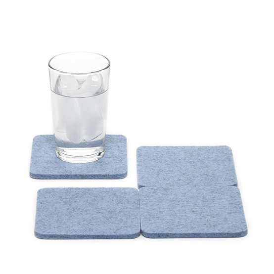 Square Coaster Set in Heather Blue