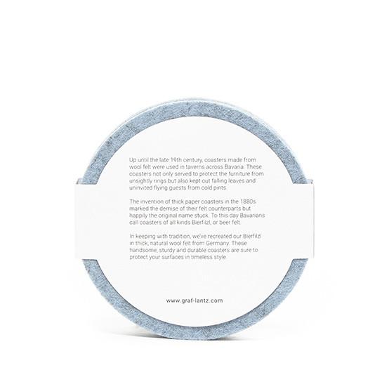 Round Coaster Set in Heather Blue Felt