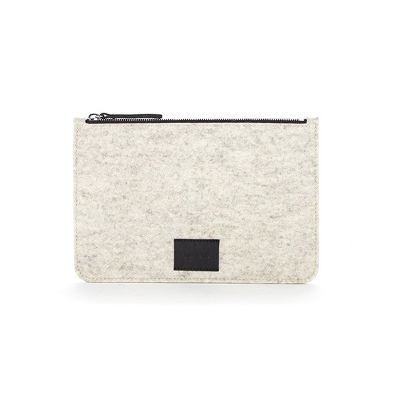 Flat Pouch in Heather White