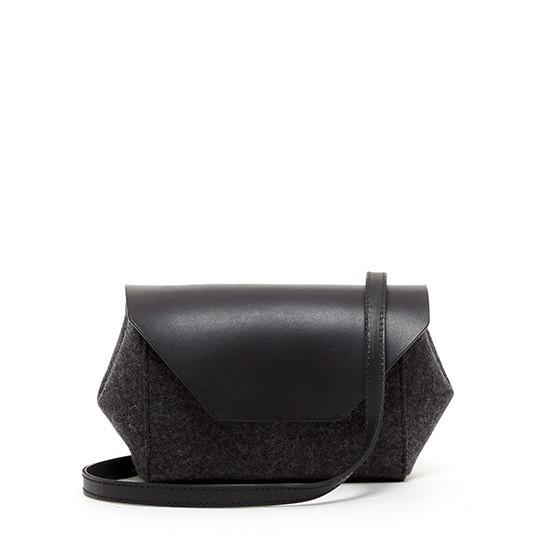 Cecil Petite in Charcoal Felt