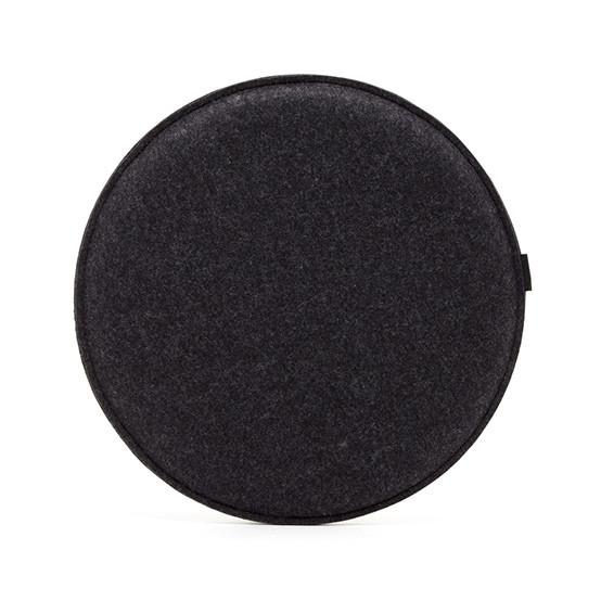 Round Zabuton Seat Pillow in Charcoal