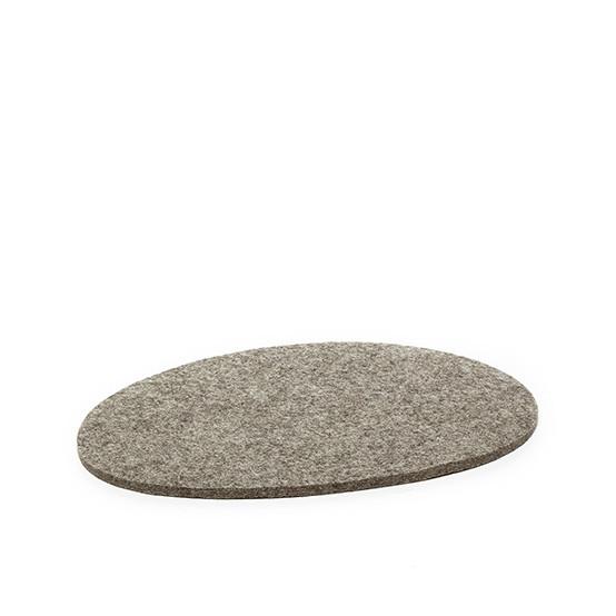 Medium Stone Trivet in Ash Brown Felt