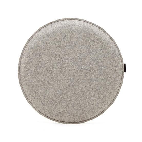 Round Zabuton Seat Pillow in Granite