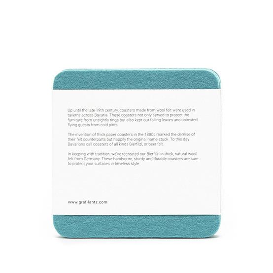 Square Coaster Set in Turquoise Felt
