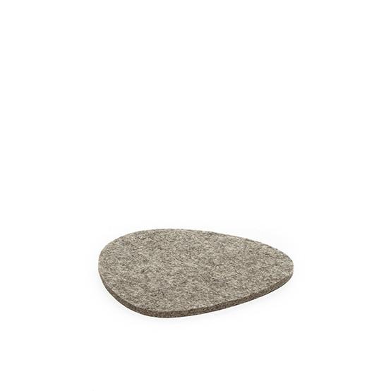 Small Stone Trivet in Ash Brown Felt