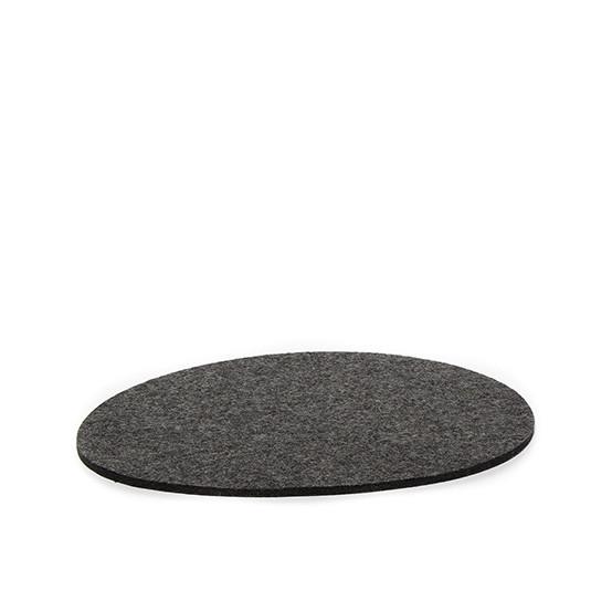 Medium Stone Trivet in Charcoal Felt