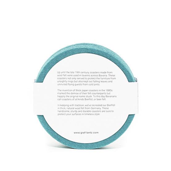 Round Coaster Set in Turquoise Felt