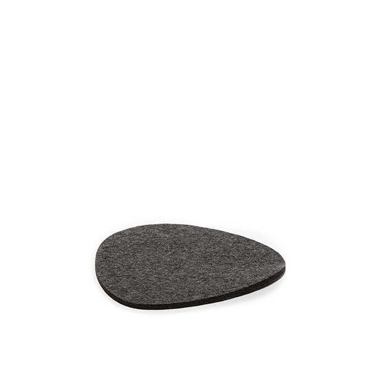 Small Stone Trivet in Charcoal Felt