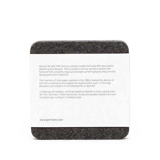 Square Coaster Set in Charcoal