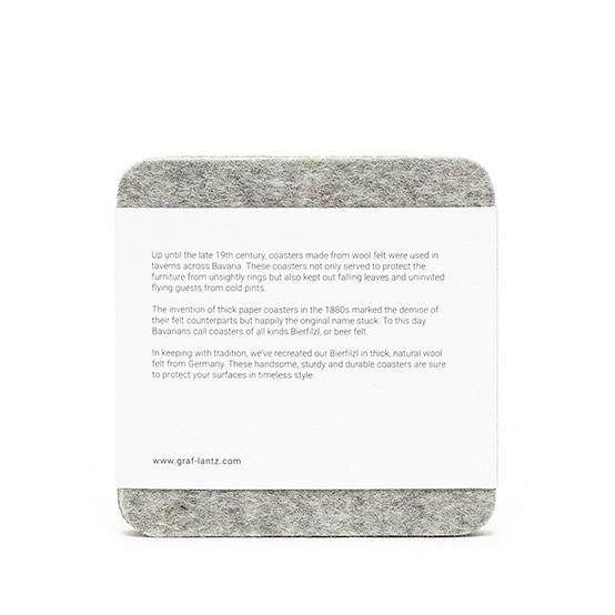 Square Coaster Set in Granite Felt