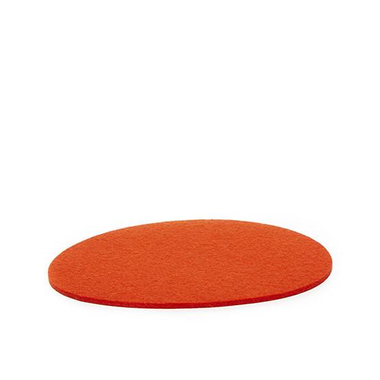 Medium Stone Trivet in Orange Felt
