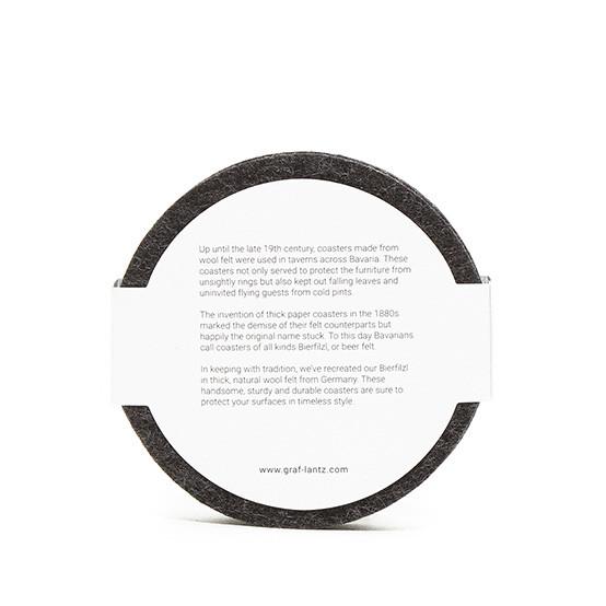 Round Coaster Set in Charcoal Felt