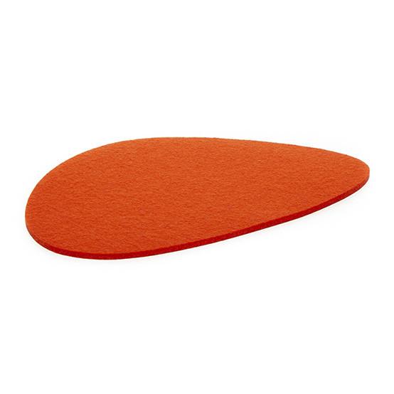 Large Stone Trivet in Orange Felt