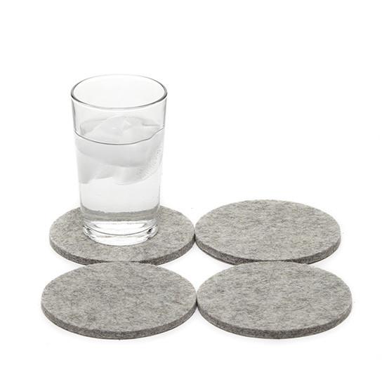 Round Coaster Set in Granite