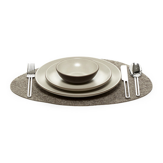 Stone Placemat in Ash Brown Felt