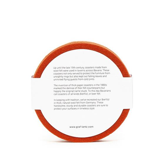 Round Coaster Set in Orange