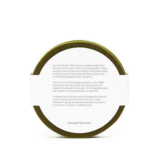 Round Coaster Set in Moss Felt