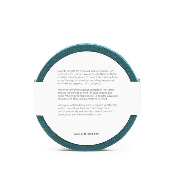 Round Coaster Set in Teal