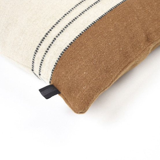 Foundry Pillow Cover in Beeswax Stripe 25 x 25