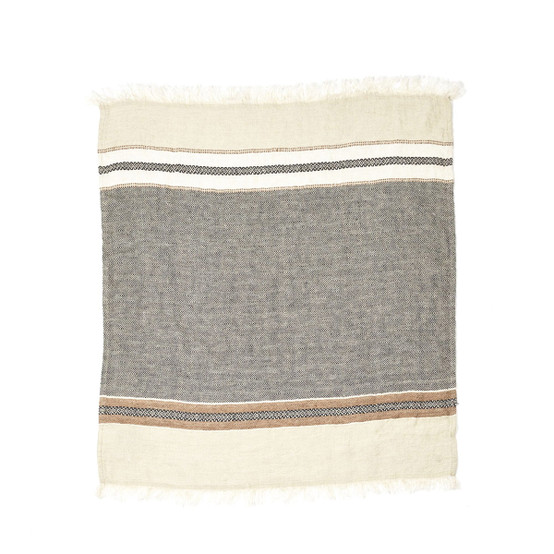 The Belgian Towel Small Fouta in Beeswax Stripe