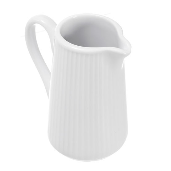 Plisse Small Cream Pitcher