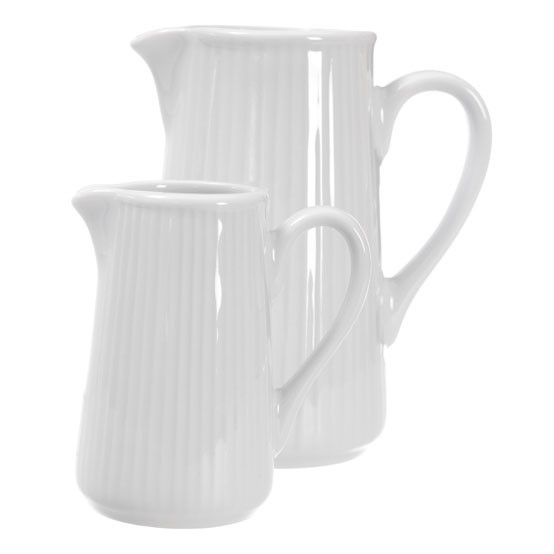 Plisse Large Cream Pitcher
