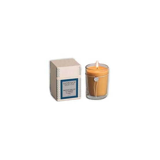 Smoked Wood & Amber 6.8oz Candle