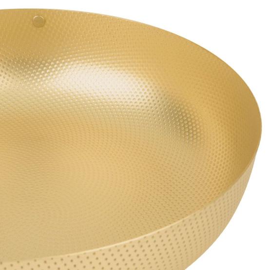 EOM 9.5 inch Round Shallow Basket in Brass