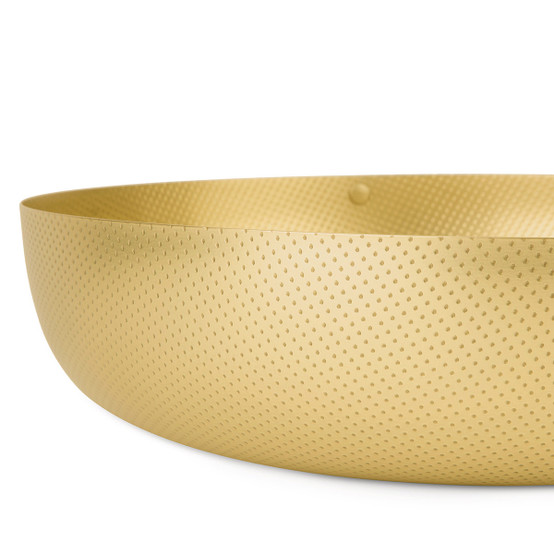 EOM 11.5 inch Round Shallow Basket in Brass