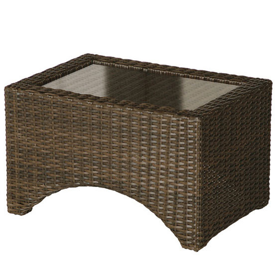 Savannah Lounger Side Table With Glass Top